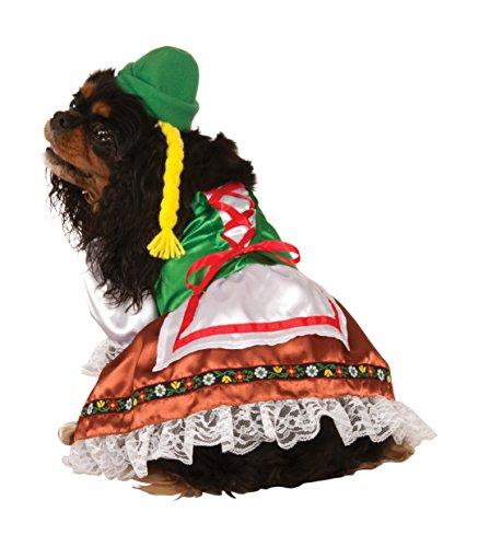 Dirndl Costume For Dogs (Oktoberfest Sweety Pet Suit, Large)