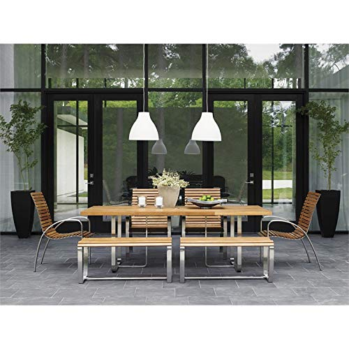 Tommy Bahama Tres Chic Patio 7 Piece Dining Set in Natural Teak (Tommy Chairs Bahama Dining)