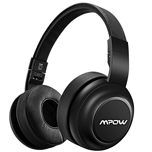 Mpow H2 Bluetooth Headphones w/4 Equalizer Modes, Hi-Fi Stereo Headphones On Ear, Both Wired & Wireless Headset Cell Phone/TV/PC by Mpow