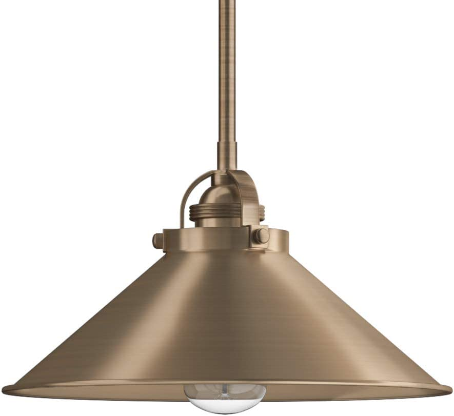Park Harbor PHPL5451AB Park Harbor PHPL5451 Eldridge 12 Wide Single Light Single Pendant with Industri