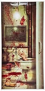 Beistle Creepy Crapper Restroom Door Cover, 30-Inch by 5-Feet