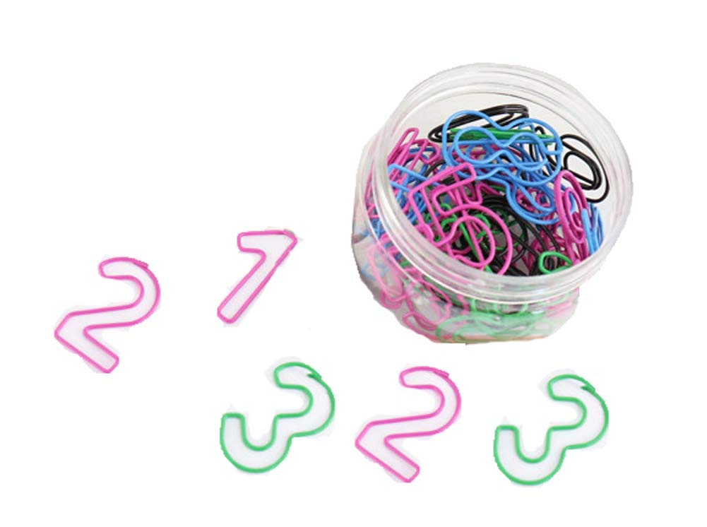30 Pieces Design of Number Paper Clip, Assorted Colors