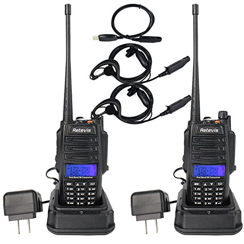 Retevis RT6 Walkie Talkies IP67 Waterproof Dual Band VHF/UHF