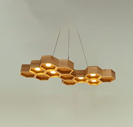 Modern minimalist chandelier northern europe coffee restaurant modern minimalist chandelier northern europe coffee restaurant dining table bar japanese style solid wood honeycomb aloadofball Image collections