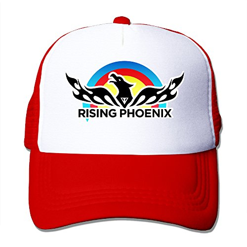 XJBD Adult Rising Video Game Phoenix Baseball Caps Red