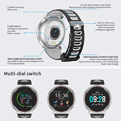 Smart Watch for iOS Android Phones, AIVEILE 2020 Version Activity Fitness Tracker Bluetooth Bracelet Waterproof Smartwatch with Blood Pressure Monitor Compatible Samsung iPhone for Men Women Kids 9