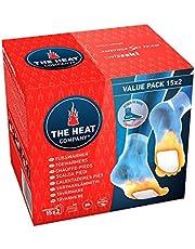 THE HEAT COMPANY Scaldapiedi - EXTRA CALDO - adesivo - Scaldini per piedi - 8 ore piedi caldi - pronti all'uso - autoriscaldante - puro naturale - per tutte le taglie - 15 paia