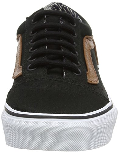 Vans Kids Old Skool (c & P) Pattino Da Skate Nero / Materiale Mix