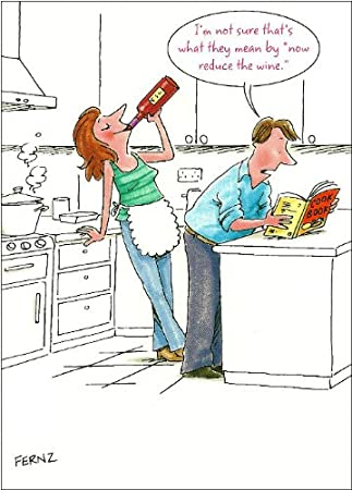 'Reduce The Wine' - Mother's Day Card - Comical Cartoon Design
