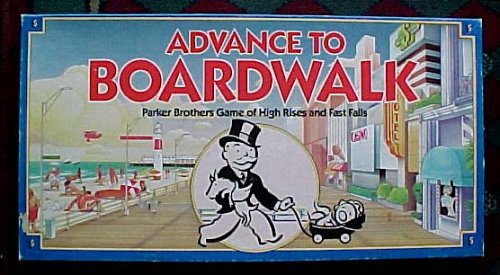 Advance to Boardwalk Parker Brothers Board Game