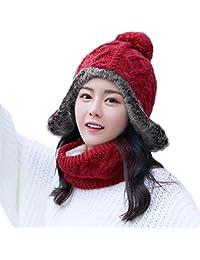 Wool Peruvian Earflap Beanie Hat Fleece Lined Winter Snow Ski Hat Ladies
