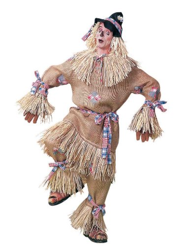Forum Novelties Men's Deluxe Extra Large Scarecrow Adult Costume, Brown, X-Large