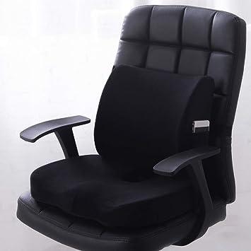 WZFC Cojin Ortopedicos Lumbar & Cojines para sillas | Cojin Ergonomico de Espuma con Memoria,