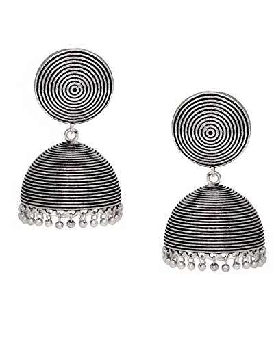 use Collection Oxidized Silver Stylish Dangle and Drop Earrings for Women ()