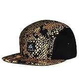 City Hunter Cn570 2 Tone Snake Skin 5 Panel biker Hat (Gold)