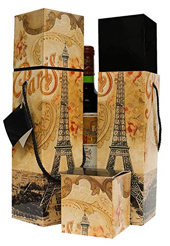- EndlessArtUS Wine Gift Box Lafite Paris Collection Set of 2 Reusable Caddies Assemble in Seconds with Gift Tags Included - No Glue or Tape Required