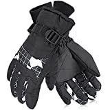 Ski Gloves, Winter Gloves, Oumers Anti-splash Taslan Fabric Snow Breathable Motorcycle Warm Gloves for Men Women and Kids