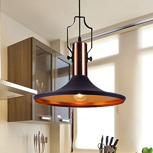 Black And Copper Pendant Light - 6