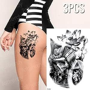 Handaxian 3 Piezas Tigre Pantera Negra Tatuaje boceto Tatuaje ...
