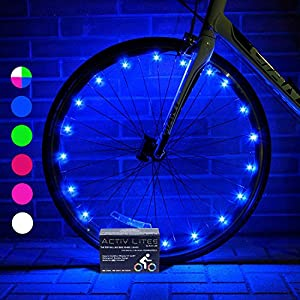Super Cool LED Bike Wheel Lights with BATTERIES INCLUDED! Get 100% Brighter and Visible From All Angles for Ultimate Safety and Style from Activ Life