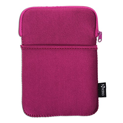 COSMOS Neoprene Protection Carrying Sleeve Case Bag for Kindle Paperwhite E-reader (Dark Pink)