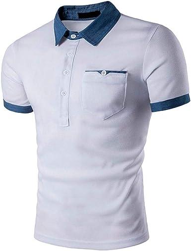 Camisa De Manga Corta con Camiseta De Manga Corta Hombre Slim Fit para Camisa De Cuello Redondo Informal para Mujer Camiseta para Hombre Camiseta Polo Mens Performance: Amazon.es: Ropa y accesorios