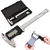 Electronic Digital Vernier Caliper Inch/Metric/Fractions Conversion 0-6 Inch/150 mm Extra Large LCD Screen Measuring Tool ,Tuscom