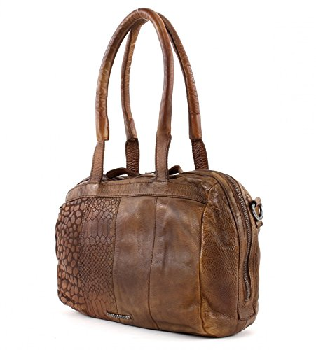 FREDsBRUDER Freebie Handtasche Leder 31 cm Mud Brick w3qGN