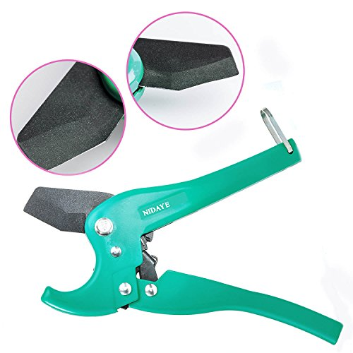 Pipe and Tube Cutter - Heavy Duty Ratcheting Hose Cutter/Fast Pipe Cutting Tool for Cutting 1/8