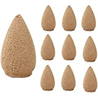 10PC Cone Incense, Luweki Porcelain Backflow Ceramic Incense for Burner Holder Buddhist Decoration Home Aromatherapy
