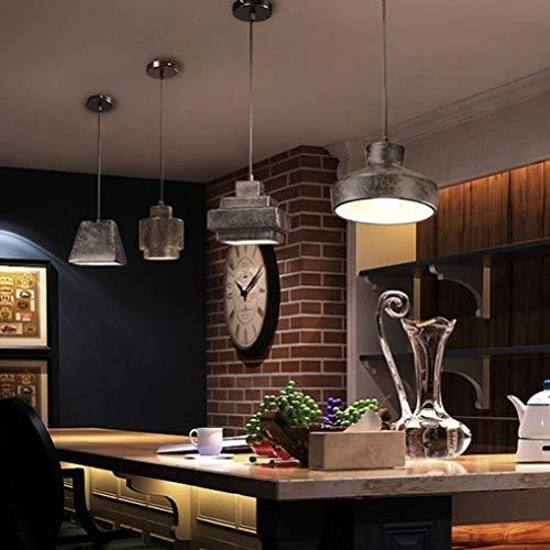 Lx.AZ.Kx Nordic Restaurant Retro Industrial Wind Eisen Pendelleuchte, Schwarz