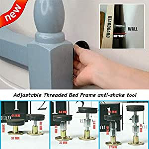 Mera Threaded Anti-Shake Adjustable Tool for Bed Telescopic Support for Room Wall 47-64mm Easy Install