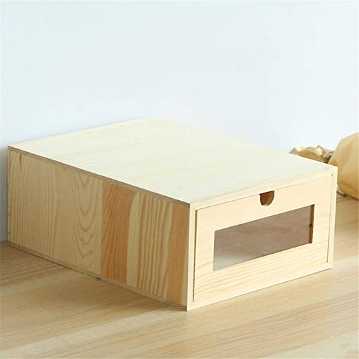 Revistero de malla Caja de almacenamiento de madera del cajón de ...