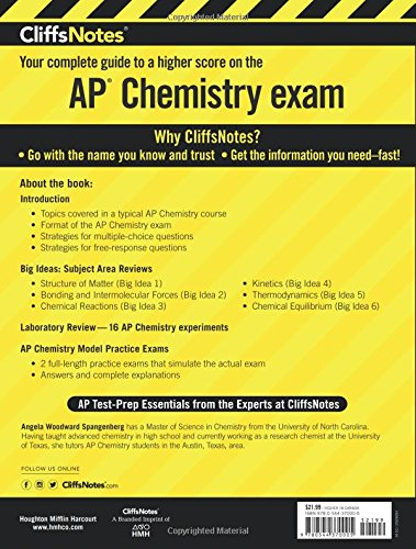 CliffsNotes AP Chemistry: Angela Woodward Spangenberg