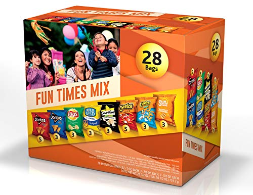 Frito-Lay Fun Times Mix Variety Pack, 28 Count -