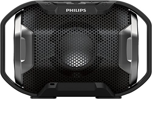 Philips SB300B/00 – Altavoz Bluetooth portátil inalámbrico (Luces LED, a Prueba de Agua IPX7 y Golpes, LED Multicolor…