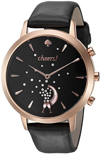 kate spade new york Leather Strap Cheers Metro Grand Hybrid Smart Watch