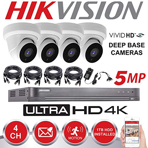 Hikvision CCTV HD 4K 5MP Night Vision Outdoor DVR Home Security System Kit...