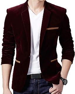 Kasen Herren Jacke Anzug Einfarbig Sakko Button Slim Fit Lange /Ärmel Revers Blazer Mantel