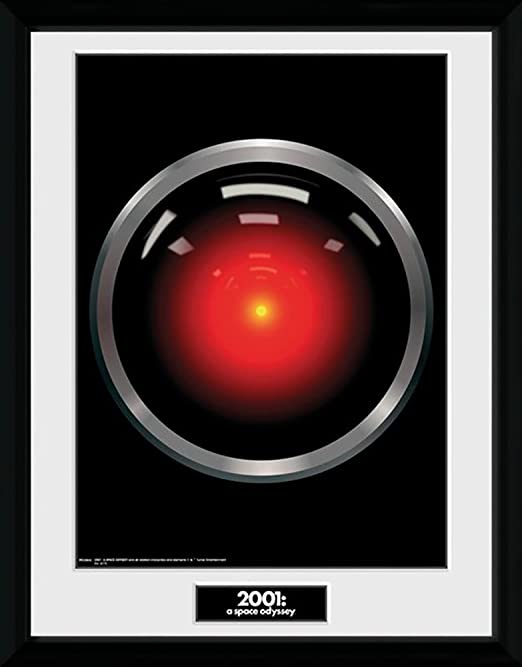 2001 hal Mounted /& Framed 30 x 40cm Print A Space Odyssey