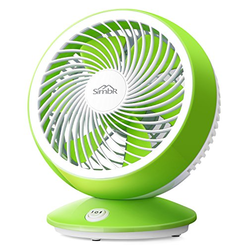 SIMBR F-1 Desk Fan 6 Inch Portable Fan Mini USB Fan With 2 Speed Adjustable (Fresh Appearance, Quiet Operation,High Compatibility), Green and White by SIMBR