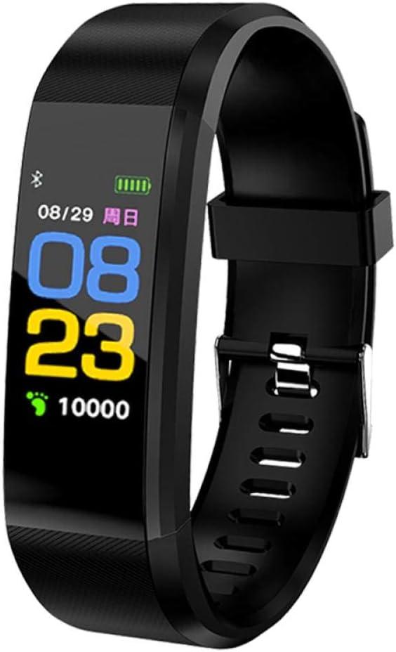 QXbecky Nuevo Monitor de Ritmo cardíaco para Hombres y Mujeres Monitor de presión Arterial rastreador de EjerciciosRelojInteligente Pulsera Inteligente Deportiva paraiOSAndroidNegro