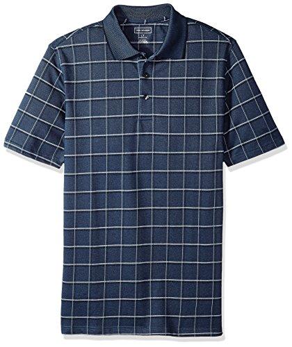 (Van Heusen Men's Big and Tall Printed Windowpane Polo Shirt, Sea Navy 3X-Large)