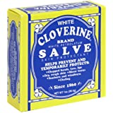 White Cloverine Salve, Petrolatum Skin Protectant, 1 Ounce Tin - 6 Pack