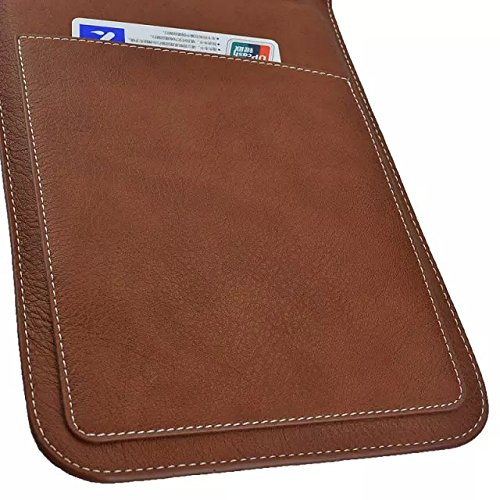 """Sumaclife Universal 8"""" PU Leather Case for 7 to 8 Inch Tablet/ Notebook/ iPad (Leather Brown)"""