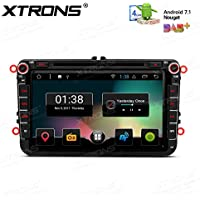 XTRONS 8 Android 7.1 HD Digital Multi-touch Screen 1080P Video Car DVD Player Custom Fit for VW Jetta Passat Golf