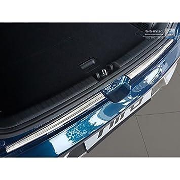 Autostyle 2/35138 protección de umbral trasera, plata