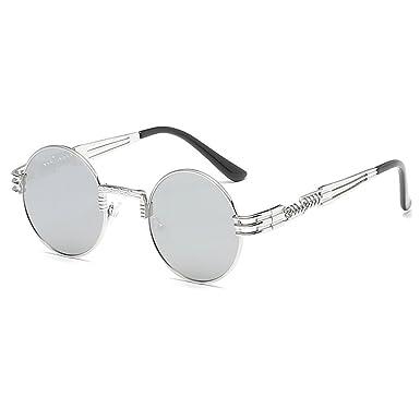 hibote rétro petit rond lunettes de soleil hommes mâle Vintage Steampunk Sunglass C9 amkNxuNCX