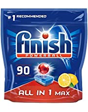 Finish Dishwasher Tablets All in 1 Max Lemon, 90 Tabs