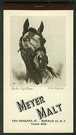 Meyer malt pocket calendar 7 1950 palenske art busher turf for Craft stores buffalo ny